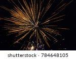 new years 2018 fireworks   Shutterstock . vector #784648105
