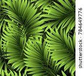 tropical palm leaves  jungle... | Shutterstock .eps vector #784649776