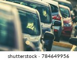 pre owned vehicles for sale on... | Shutterstock . vector #784649956