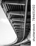 architecture under the bridge... | Shutterstock . vector #784651432