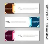 vector abstract design banner... | Shutterstock .eps vector #784663606