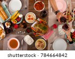 dinner table for clebration | Shutterstock . vector #784664842