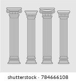 set of four contour rome and... | Shutterstock .eps vector #784666108