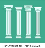 set of four short rome and... | Shutterstock .eps vector #784666126