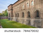 external walls and moat of... | Shutterstock . vector #784670032