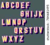 vector set of hand crafted 3d... | Shutterstock .eps vector #784681495