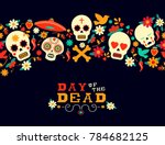 day of the dead seamless... | Shutterstock . vector #784682125