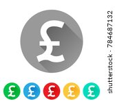 gbp  set of pound sign icons ... | Shutterstock .eps vector #784687132