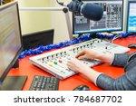 radio studio equalizers | Shutterstock . vector #784687702