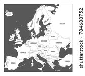 map of europe with names of... | Shutterstock .eps vector #784688752