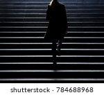 urban walk   blurry silhouette... | Shutterstock . vector #784688968