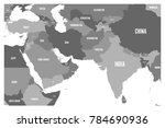 political map of south asia and ... | Shutterstock .eps vector #784690936