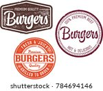 burger restaurant menu design... | Shutterstock .eps vector #784694146