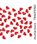 red hearts background on white  ... | Shutterstock . vector #784695982