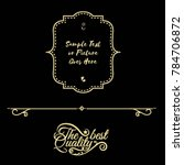 gold frame made in vector....   Shutterstock .eps vector #784706872