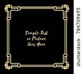 gold frame made in vector....   Shutterstock .eps vector #784709695