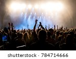 barcelona   jul 1  crowd in a... | Shutterstock . vector #784714666