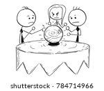 cartoon stick man concept... | Shutterstock .eps vector #784714966