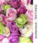 bouquet of fresh white  green ...   Shutterstock . vector #784719652