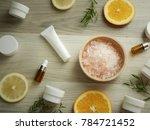 natural cosmetic skincare serum ... | Shutterstock . vector #784721452