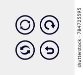 loading  refresh  undo cicle...   Shutterstock .eps vector #784725595