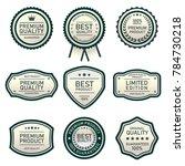 set of design labels top... | Shutterstock .eps vector #784730218