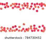 rose petals border invitation... | Shutterstock .eps vector #784730452