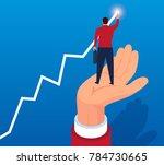 giants help merchants achieve... | Shutterstock .eps vector #784730665