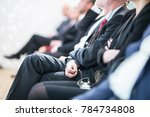 row of unrecognizable business... | Shutterstock . vector #784734808