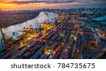 logistics and transportation of ... | Shutterstock . vector #784735675