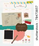 beautiful scrapbook elements  ... | Shutterstock .eps vector #78473857