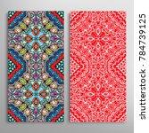 vertical seamless patterns set  ... | Shutterstock .eps vector #784739125