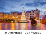 the main town square rynek at... | Shutterstock . vector #784742812