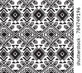 geometric ornament for ceramics ... | Shutterstock .eps vector #784749196