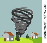 natural disaster illustration...   Shutterstock .eps vector #784757932