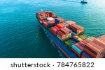 aerial view container cargo... | Shutterstock . vector #784765822