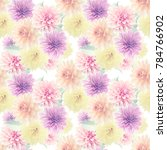 seamless floral pattern with...   Shutterstock . vector #784766902