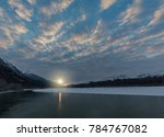 chilly sunrise on the chilkat  | Shutterstock . vector #784767082