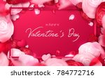 happy holidays  valentines day... | Shutterstock .eps vector #784772716