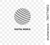 globe with binary code. logo... | Shutterstock .eps vector #784774852