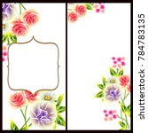 invitation with floral... | Shutterstock . vector #784783135