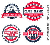 mountain bike club logo set...   Shutterstock .eps vector #784785196