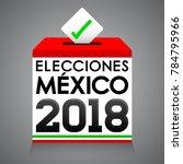 elecciones mexico 2018  mexico... | Shutterstock .eps vector #784795966