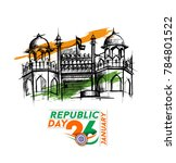 indian republic day concept... | Shutterstock .eps vector #784801522