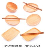 set of wooden boards isolated... | Shutterstock . vector #784802725