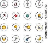 line vector icon set  ... | Shutterstock .eps vector #784805242