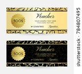 gold scribbles. gift vouchers... | Shutterstock .eps vector #784807495