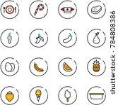 line vector icon set   plate... | Shutterstock .eps vector #784808386