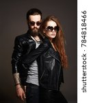fashion beautiful couple in... | Shutterstock . vector #784818466