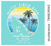 little surfer boy graphic... | Shutterstock .eps vector #784819042